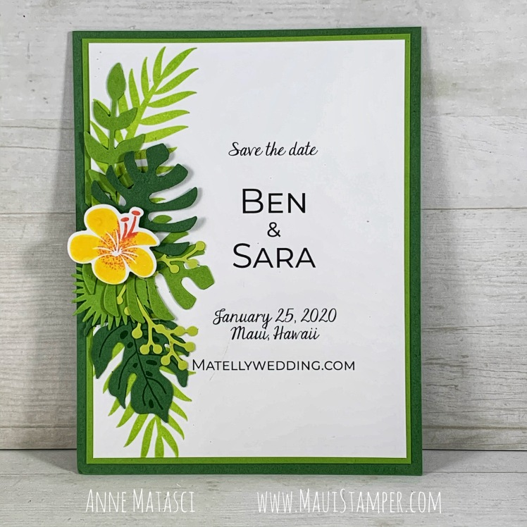 Maui Stamper Stampin' Up! Ben and Sara Save the Date