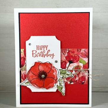 Maui Stamper Stampin Up Painted Poppies