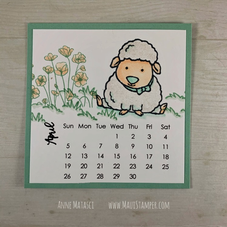 Maui Stamper Stampin Up DIY Easel Calendar April 2020