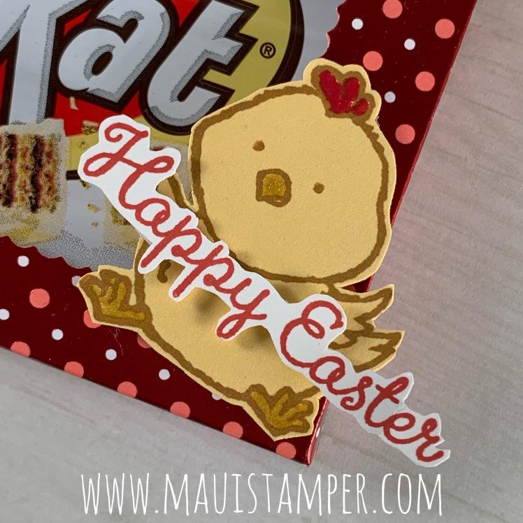 Maui Stamper Stampin Up Welcome Easter Kit Kat Bar