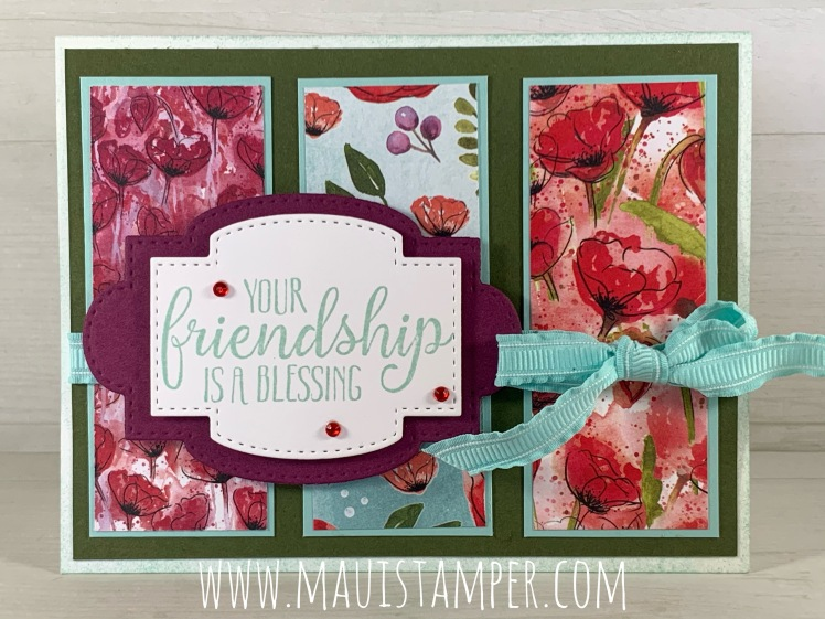 Maui Stamper Stampin Up Peaceful Poppies