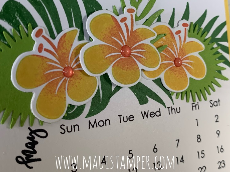 Maui Stamper Tropical Chic May 2020 DIY Easel Calendar