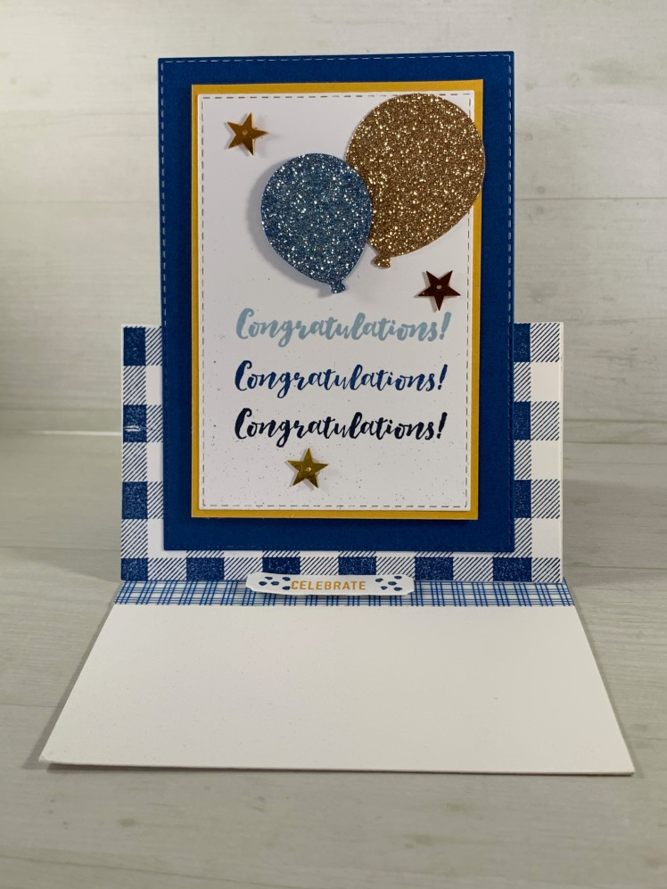 Maui Stamper Stampin Up Congratulations Easel Technique