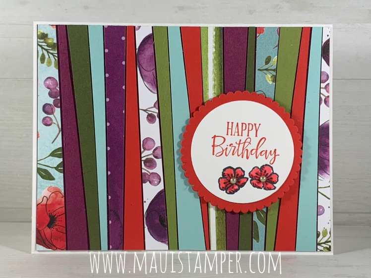 Maui Stamper Stampin Up Scrappy Strip Technique Paper Piercing