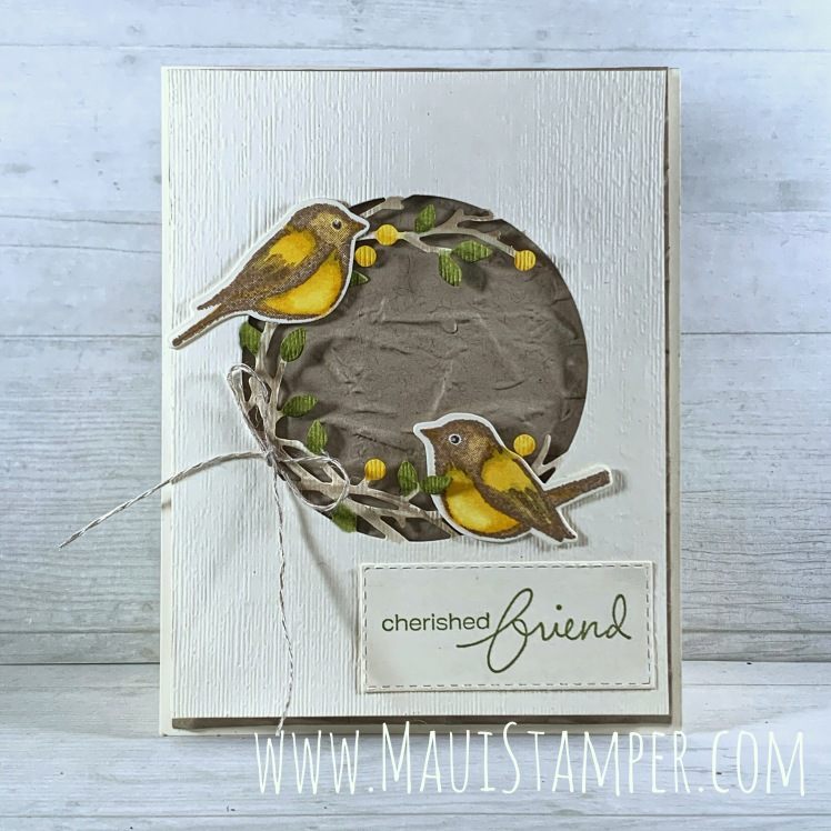 Maui Stamper Stampin Up Birds & Branches card