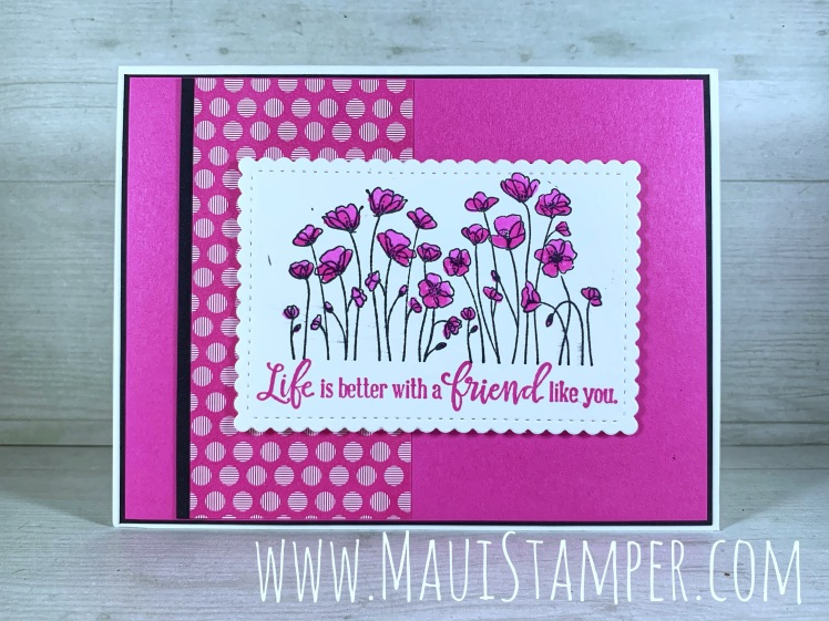 Maui Stamper Stampin Up 2020-2022 In Color Collection Painted Poppies