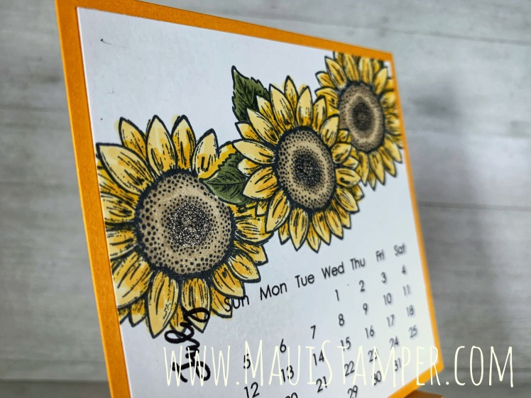 Maui Stamper Stampin Up Celebrate Sunflowers DIY Calendar July 2020