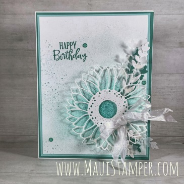 Maui Stamper Stampin Up Celebrate Sunflowers in Just Jade