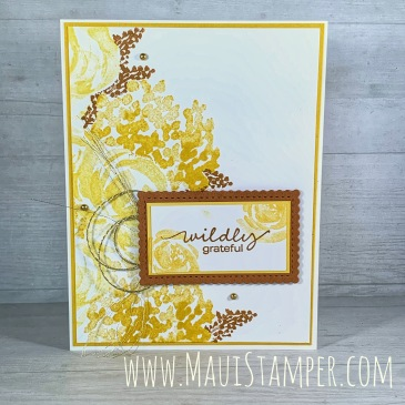 Maui Stamper Stampin Up Beautiful Friendship Split Card Technique