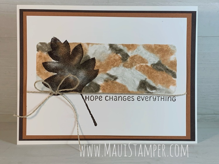 Maui Stamper Stampin Up Acrylic Block Watercolor Technique Love of Leaves