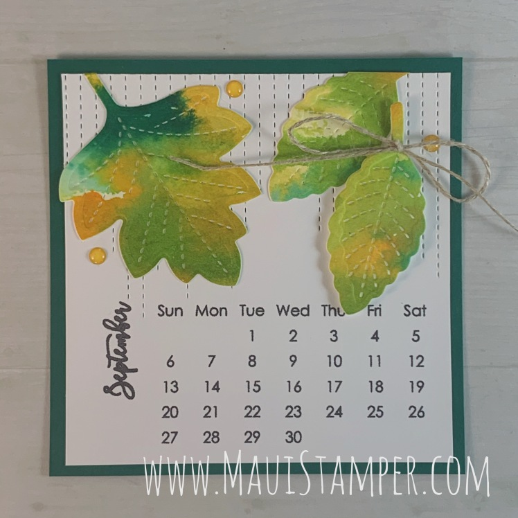Maui Stamper Stampin Up DIY Easel Calendar September 2020 Love of Leaves