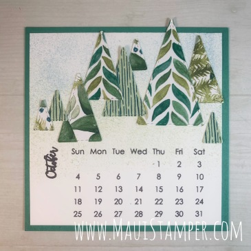 Maui Stamper Stampin Up October 2020 DIY Easel Calendar Stitched Triangles