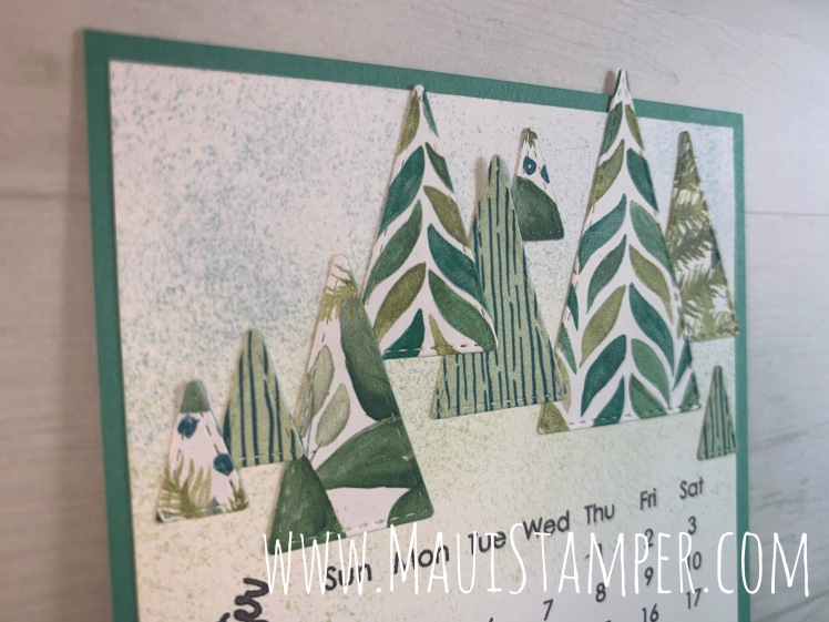 Maui Stamper Stampin Up October 2020 DIY Easel Calendar Stitched Triangles