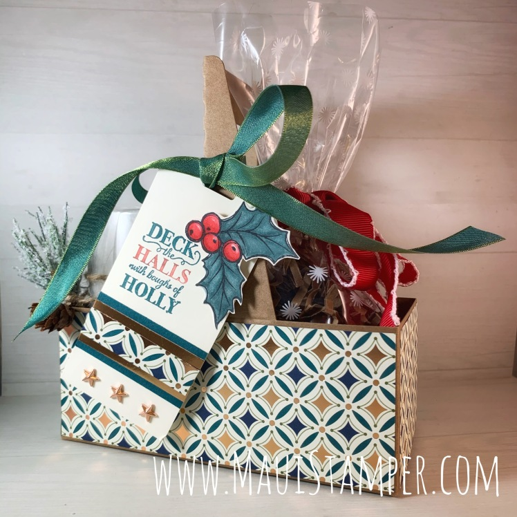 Maui Stamper Stampin Up Brightly Gleaming Mini Coffee Carrier gift packaging