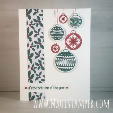 Maui Stamper Stampin Up Ornamental Envelope Handmade Christmas Card
