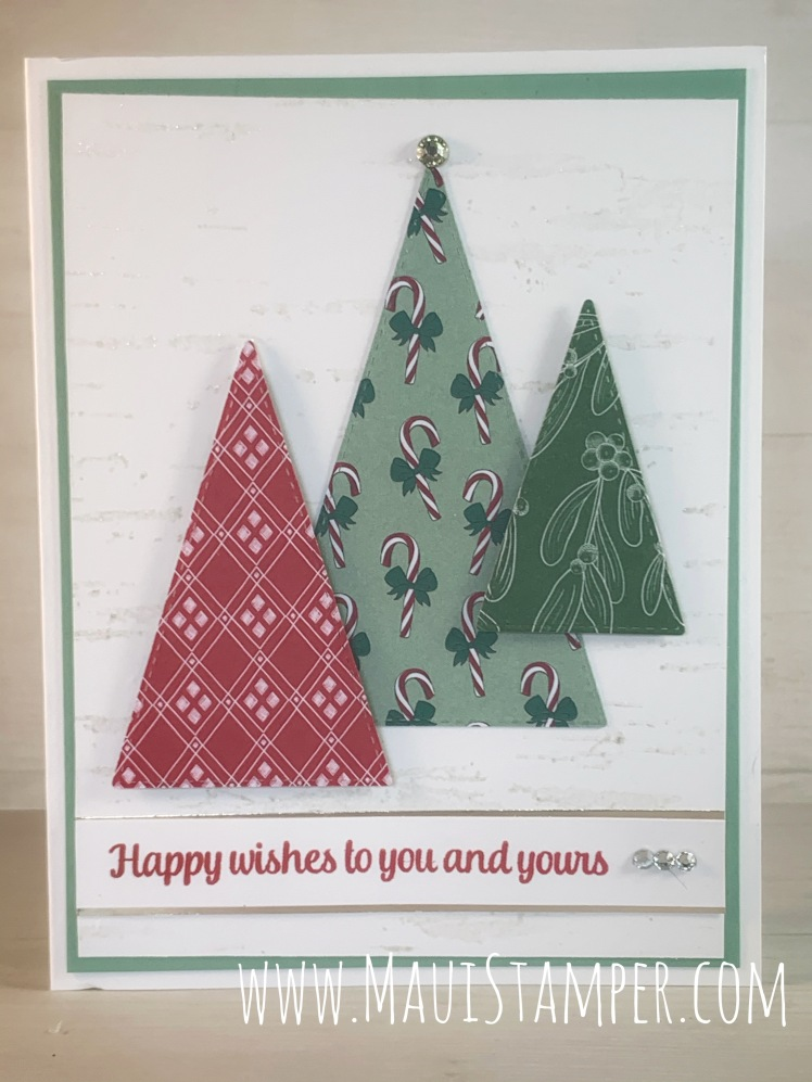 Maui Stamper Stampin Up Tis the Seasons Stitched Triangle Tree handmade card