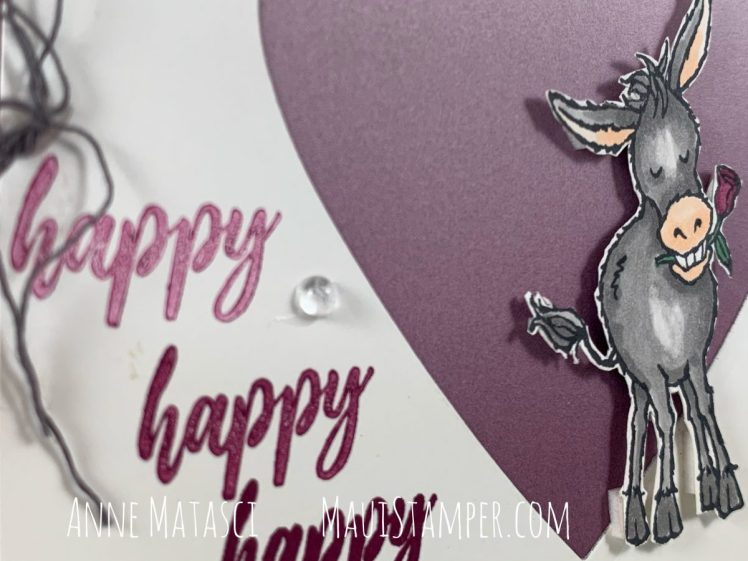 Maui Stamper Stampin Up Darling Donkeys A Wish for Everything Valentines