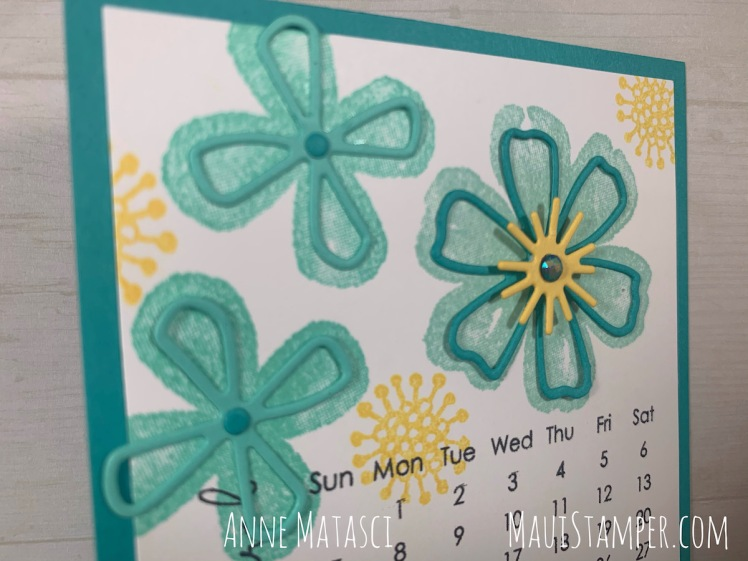 Maui Stamper Stampin Up Pretty Perennials DIY Easel Calendar March 2021