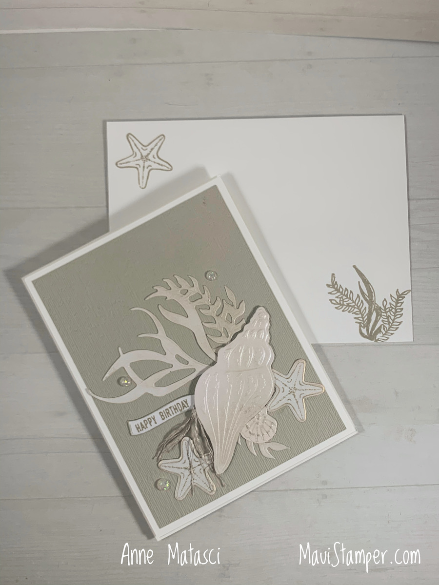 Maui Stamper Stampin Up Sand and Sea Suite Friends Are Like Seashells handmade card