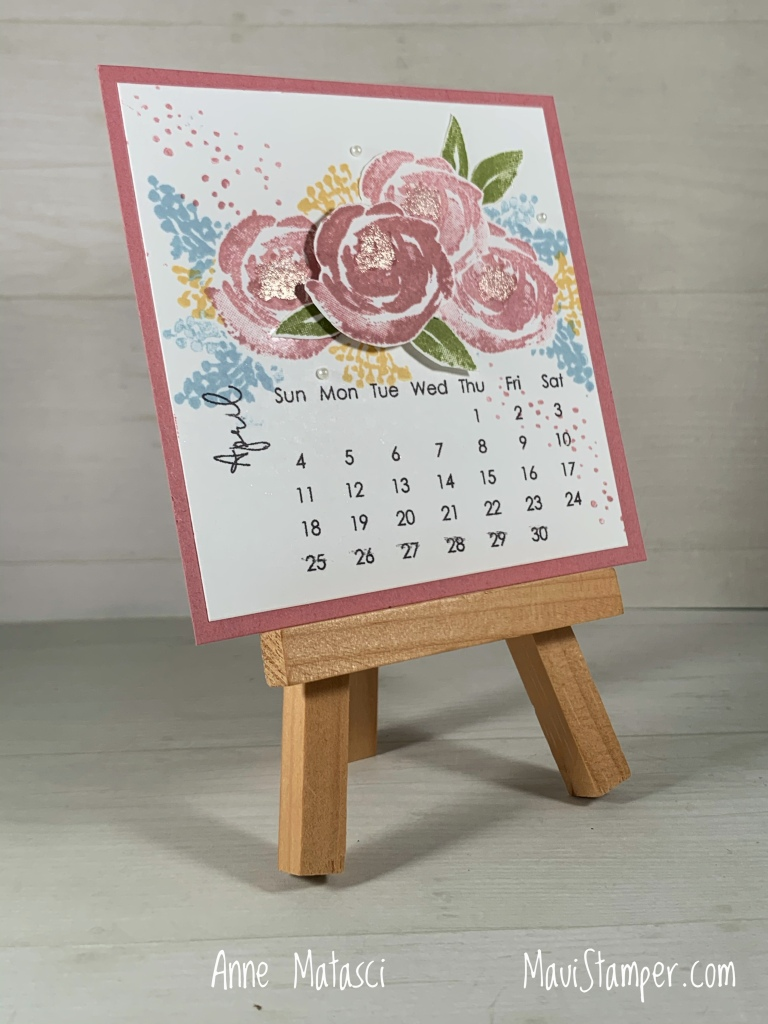Maui Stamper Stampin Up Beautiful Friendship DIY Easel Calendar April 2021