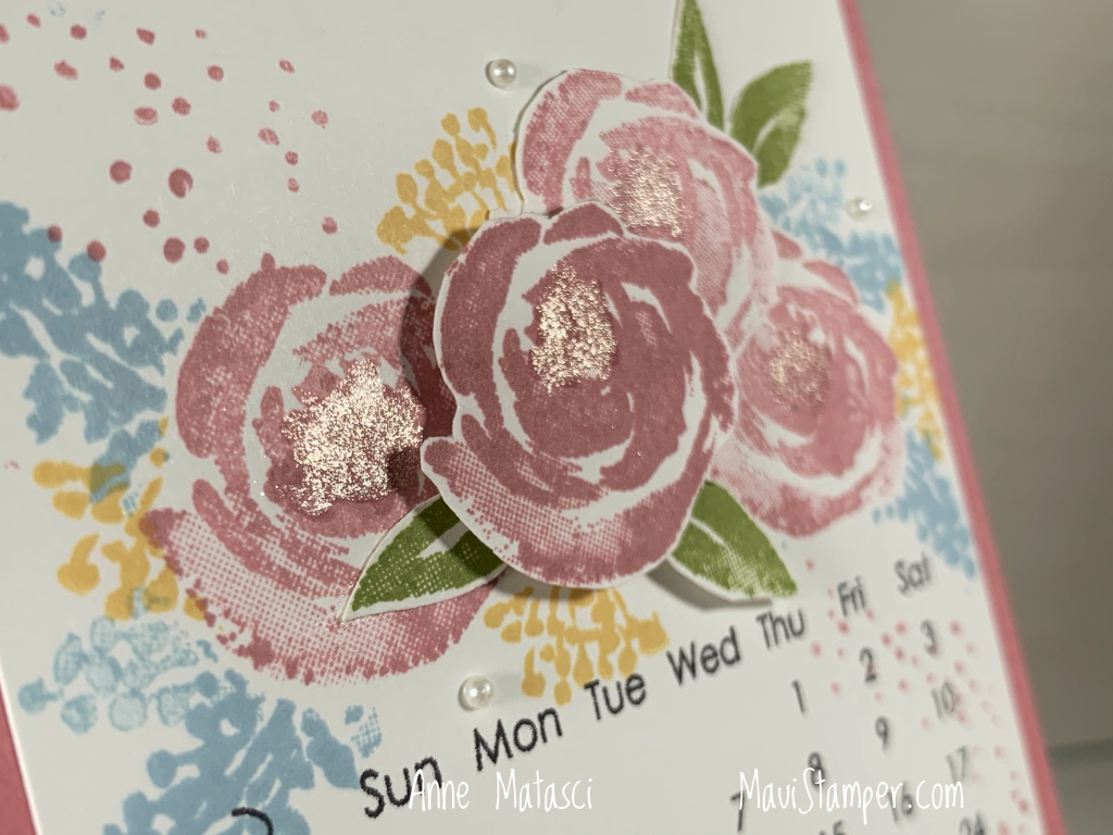 Maui Stamper Stampin Up Beautiful Friendship DIY Easel Calendar April 2021