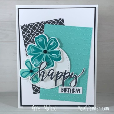Maui Stamper Stampin Up Pretty Perennials True Love DSP Scripty birthday card