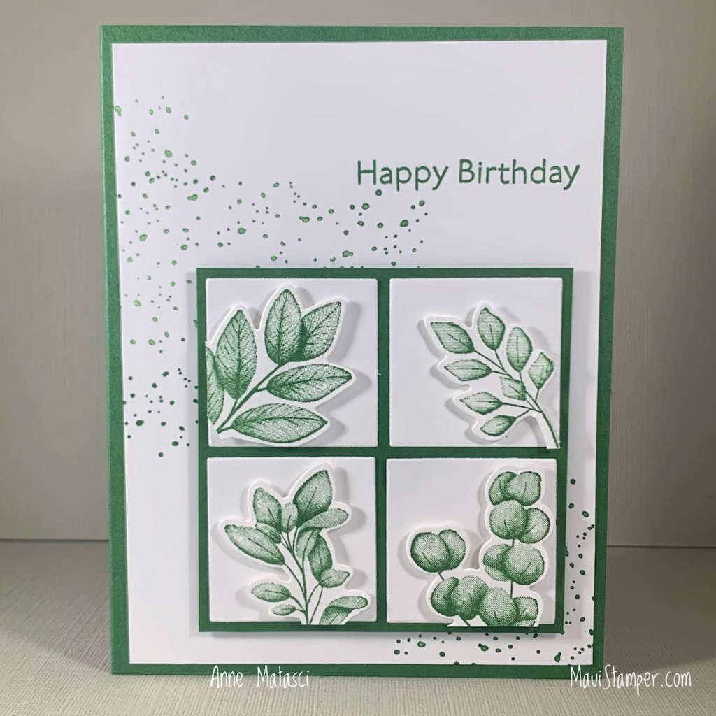 Maui Stamper Stampin Up Forever Fern Monochromatic card