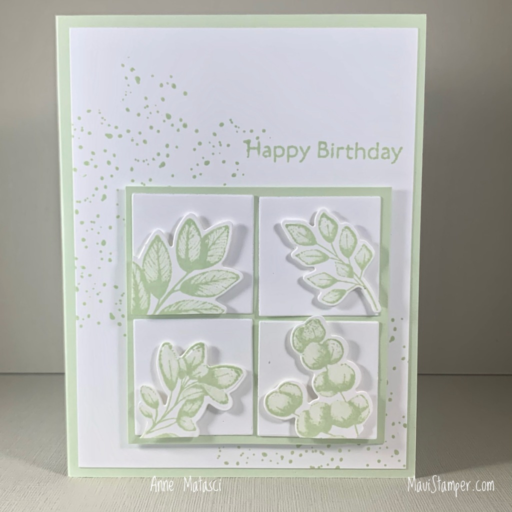 Maui Stamper Stampin Up Forever Fern Monochromaticbirthday card