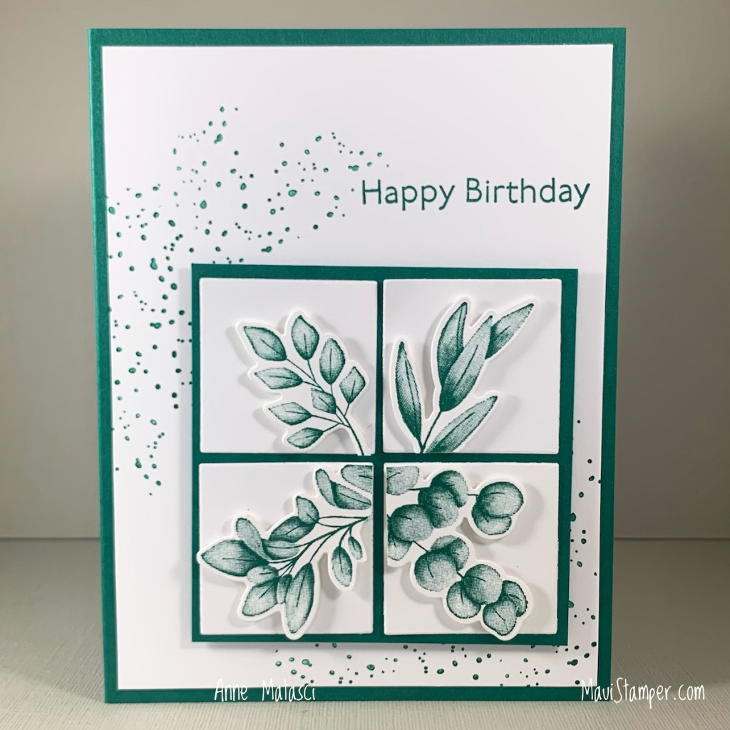 Maui Stamper Stampin Up Forever Fern Monochromatic birthday card