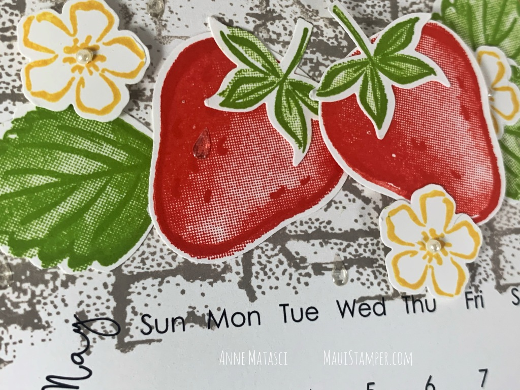 Maui Stamper Stampin Up May 2021 Sweet Strawberry DIY Calendar