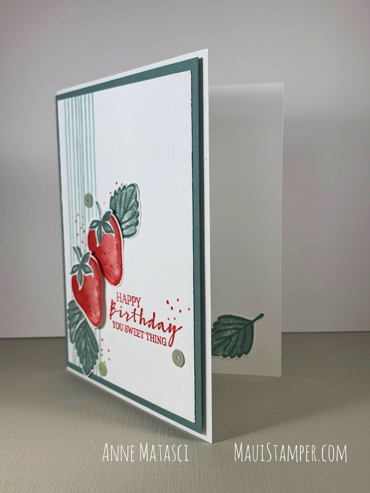Maui Stamper Stampin Up Sweet Strawberry birthday card