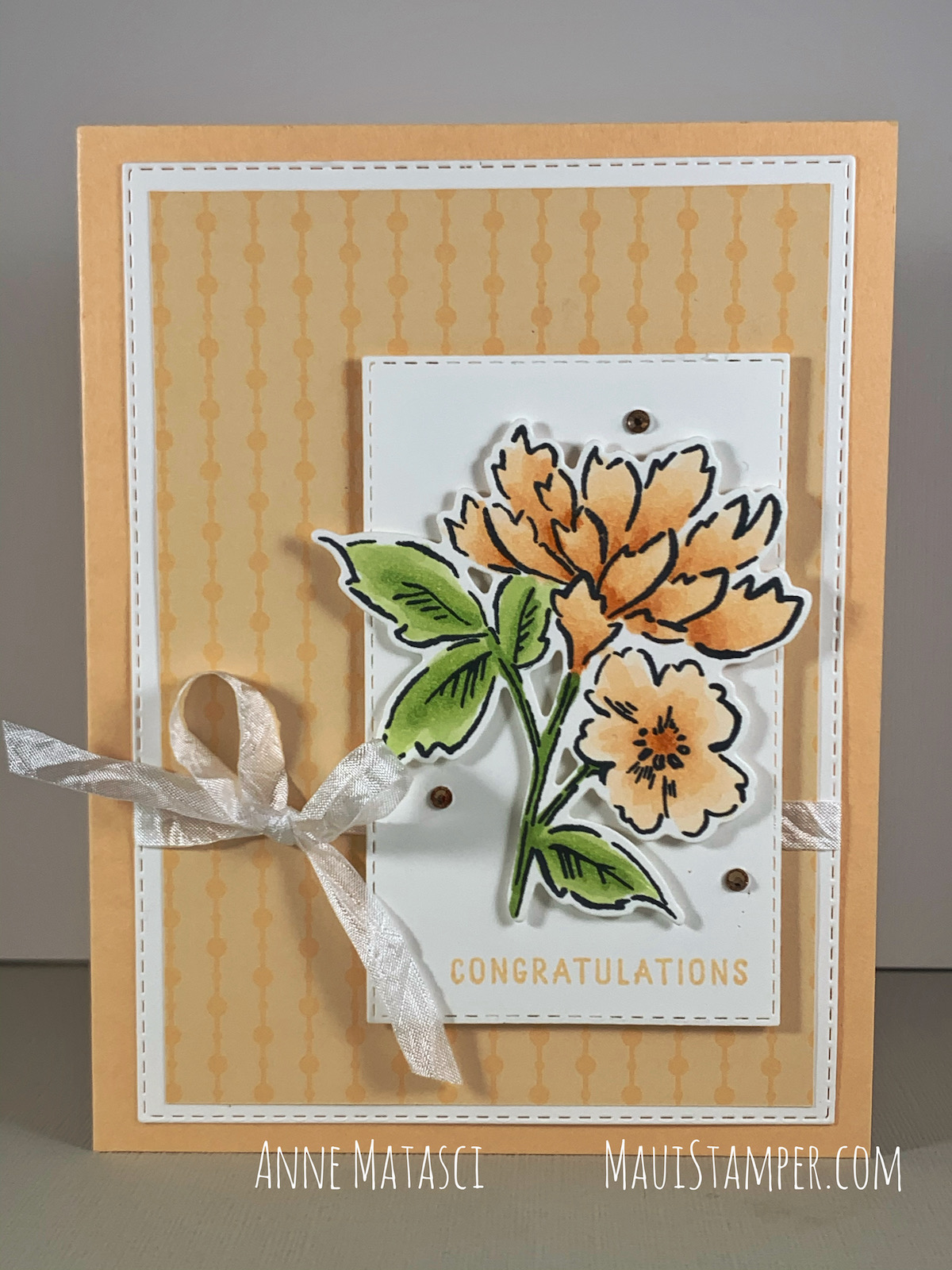 Maui Stamper Stampin Up Hand Penned Petals handmade card