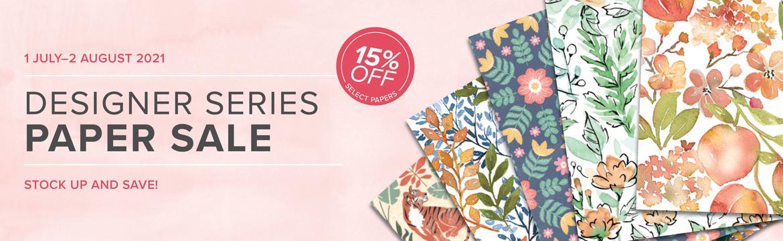 Maui Stamper Stampin Up July Designer Series Paper Sale