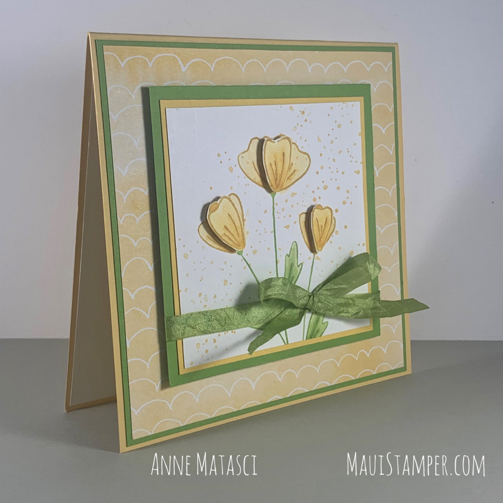 Maui Stamper Stampin Up Flowers of Friendship Square Card