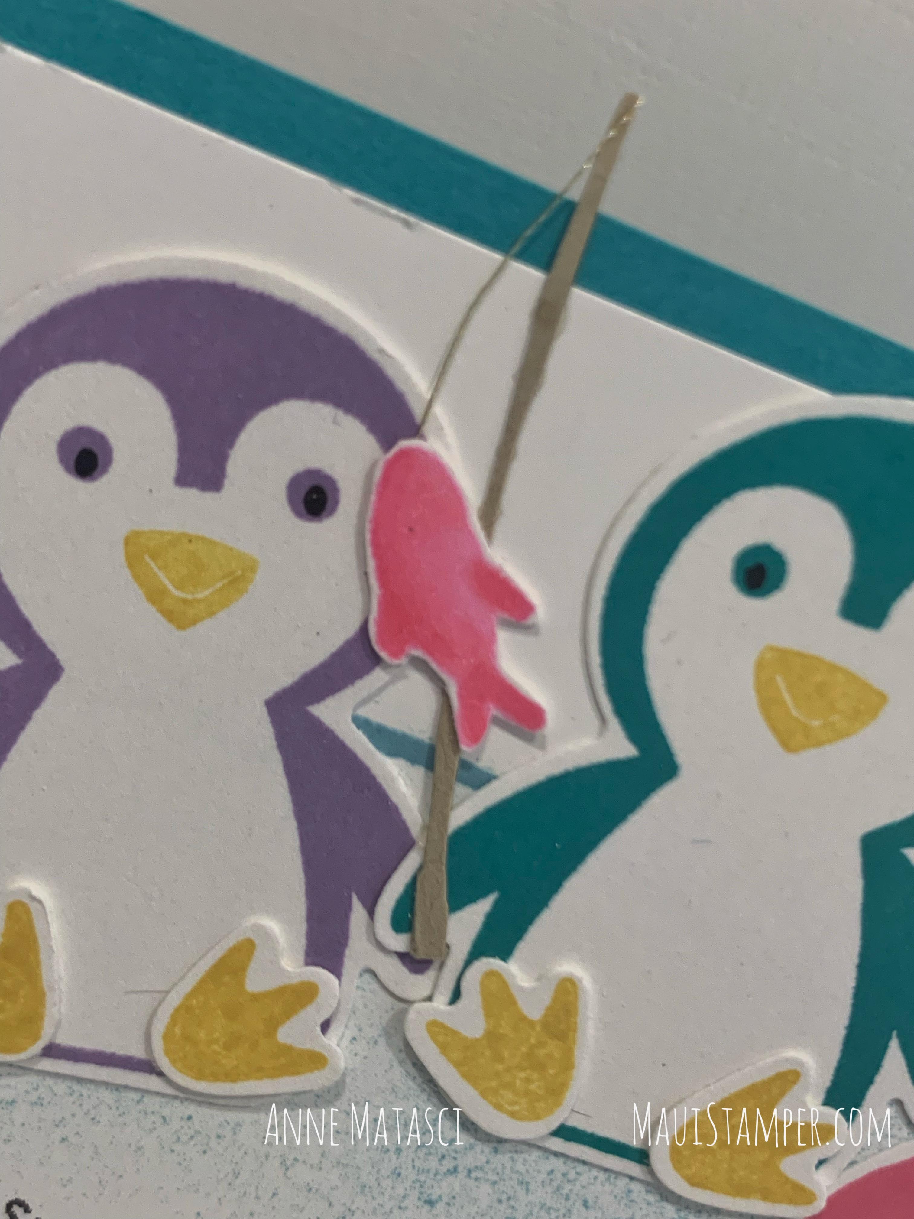 Maui Stamper Stampin Up August 2021 DIY Easel Calendar Penguin Place