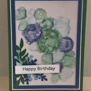 Maui Stamper Stampin Up Stampin Blends Alcohol Technique Happy Birthday card
