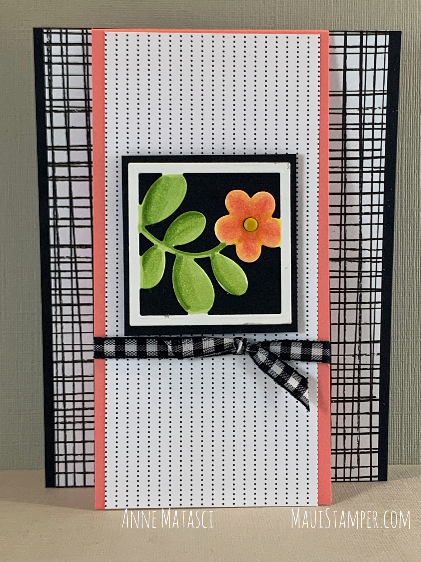 Maui Stamper Stampin Up Floral Frames Pattern Party fun fold handmade card